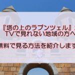 塔の上のラプンツェル 佐賀県/大分県/沖縄県はテレビで見れない?無料で見る方法を紹介